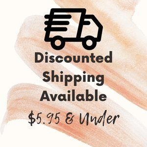 Discounted Shipping Available
